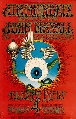 "A Jimi Hendrix ""Flying Eyeball"" concert poster"