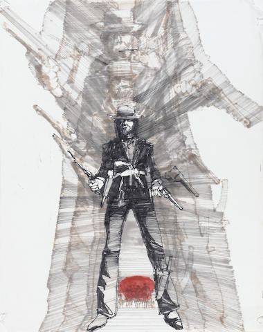 A group of concept art from The Outlaw Josey Wales