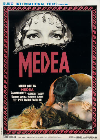 Maria Callas - Medea Poster, linen backed
