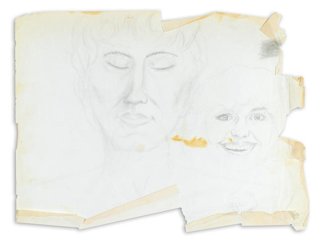 A Marlon Brando drawing of two women
