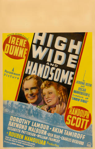 HIGH, WIDE, AND HANDSOME FRAMED FILM POSTER.