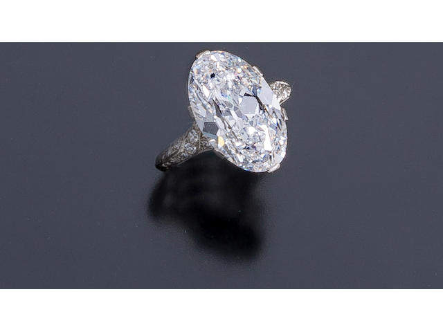 A belle époque diamond solitaire ring,