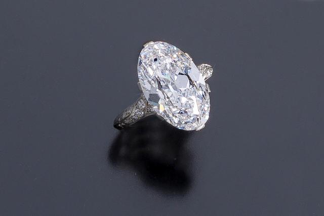A belle époque diamond solitaire ring,