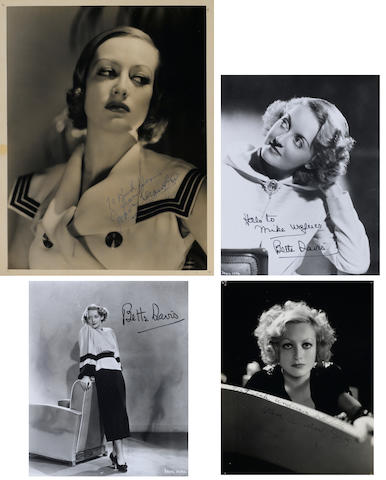 A group of Joan Crawford and Bette Davis signed photographs