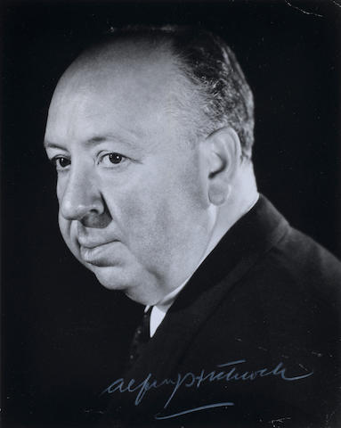 An Alfred Hitchcock signed photograph