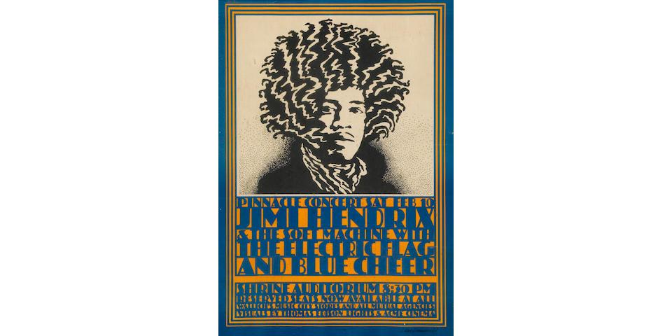 "A Jimi Hendrix ""Pinnacle"" concert poster"