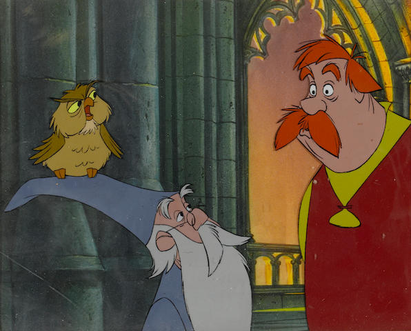 A SWORD AND THE STONE ANIMATION CEL.