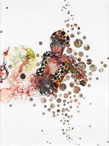 Wangechi Mutu (born 1972) Alien Polka Ponder, 2003 48 x 36in. (121.9 x 91.4cm)
