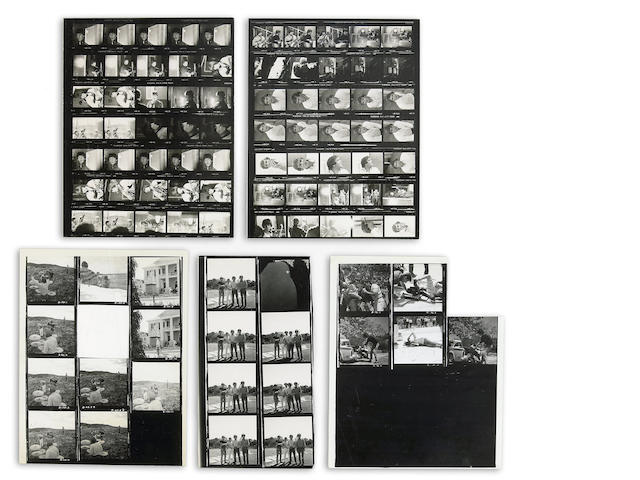 A Beatles group of black and white contact sheets from Help!, 1965