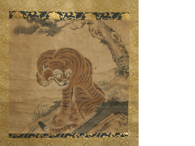 Anonymous Tiger under pine tree