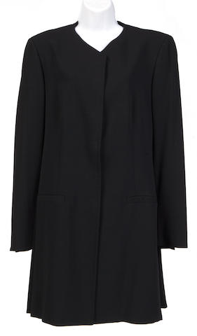A Piazza Sempione long black jacket