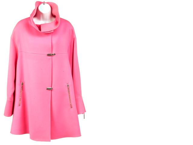 A fuchsia toggle jacket