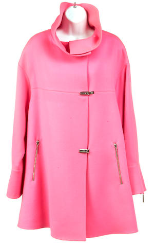 A fuchsia toggle jacket
