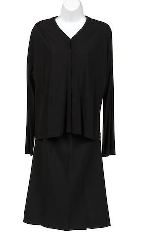 A Lida Baday black long sleeve cardigan