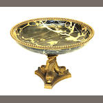 A Louis XVI style gilt bronze mounted black porter marble centerpiece early 20th century