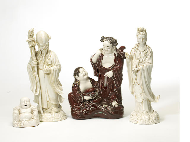 A group of four Chinese porcelain figures