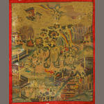 Two Tibetan style thangkas 20th century