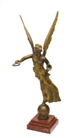 A French gilt bronze figure of Fame late 19th century