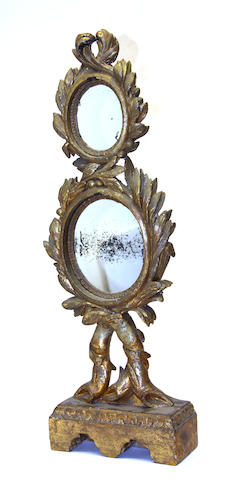 An Italian Neoclassical giltwood mirror 19th century