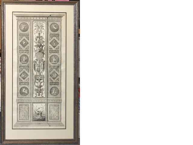 A pair of engravings depicting panels