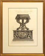 Four engravings after Piranesi of classical urns