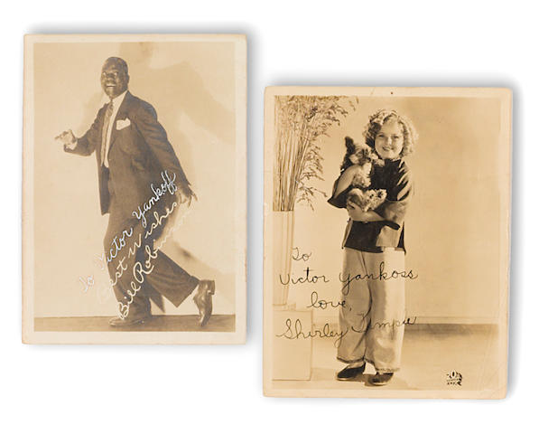 "A pair of Shirley Temple and Bill ""Bojangles"" Robinson signed photographs"