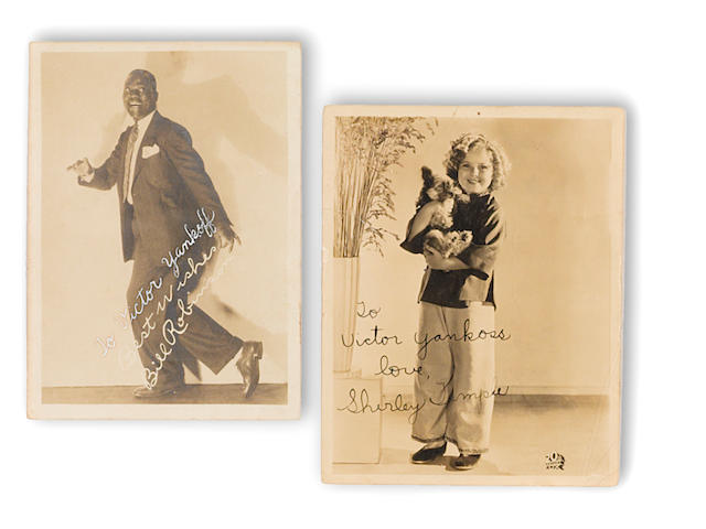 "Shirley Temple and Bill ""Bojangles"" Robinson signed photographs"