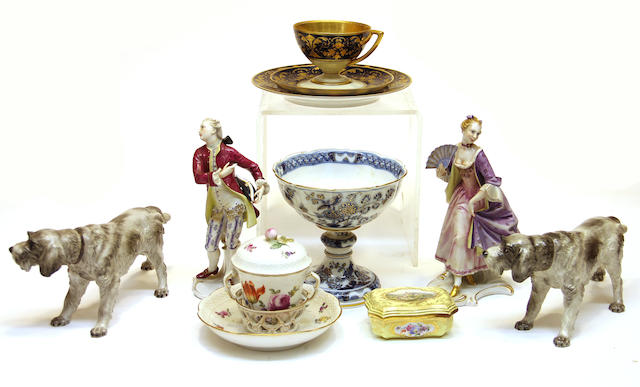 An assembled grouping of Continental porcelain first half 20th century