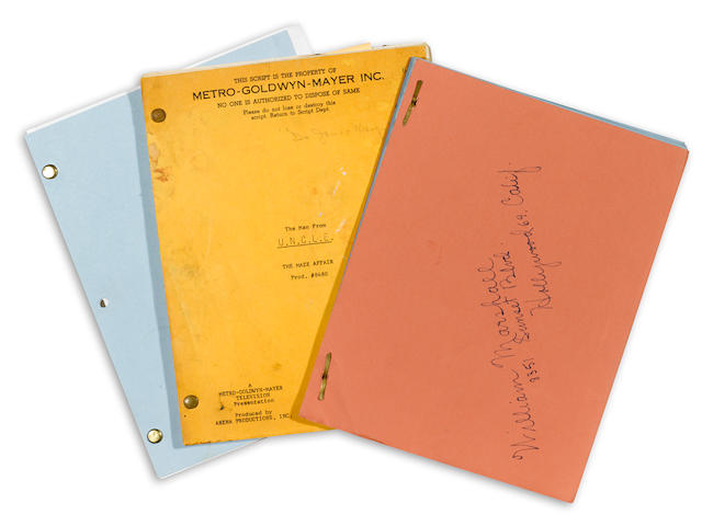 3 SCRIPTS FROM WILLIAM MARSHALL'S TV CAREER- BONANZA, THE MAN FROM U.N.C.L.E., AND STAR TREK: THE NEXT GENERATION