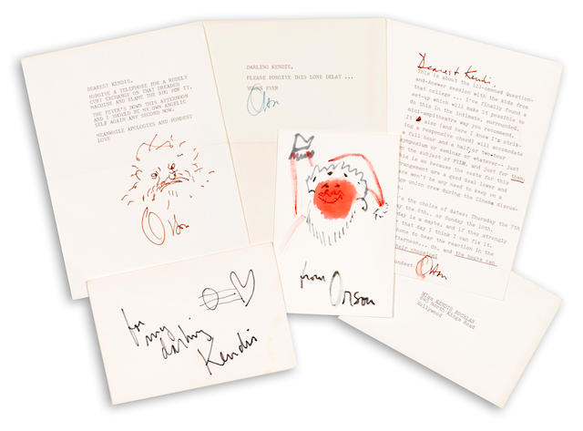 A group of Orson Welles correspondence