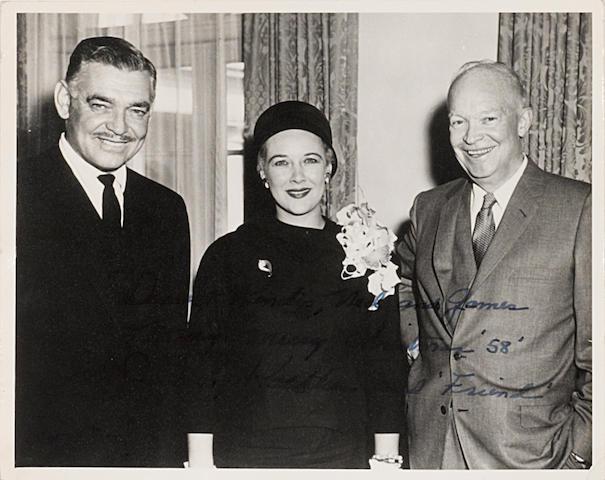A Clark Gable signed photograph