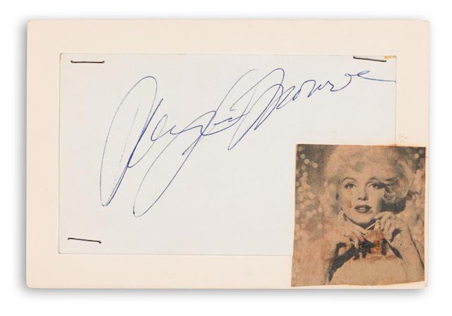 A Marilyn Monroe signature, 1962