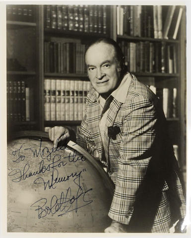 A Bob Hope signed photograph