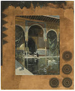 *** Lagartos (19th Century) In the mosque; The Alhambra, Granada (a pair) 25 3/4 x 19 3/4in (65.4 x 50.2cm)