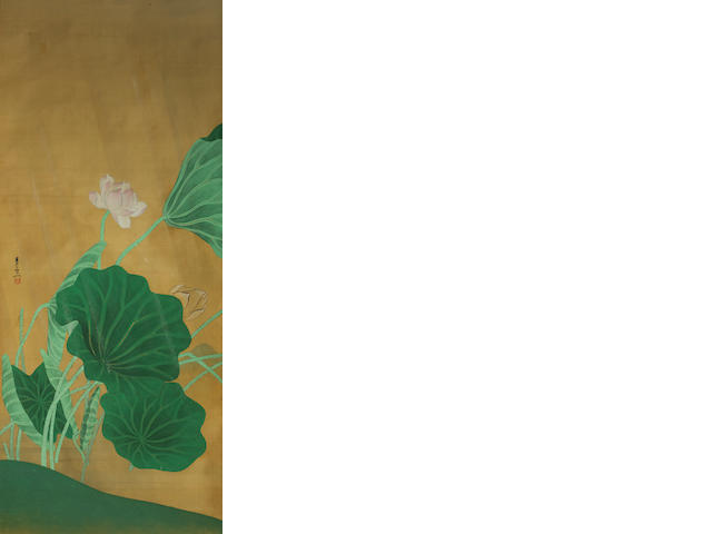 Two Japanese paintings 20th century