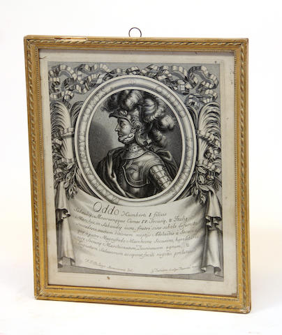 Six portrait engravings of monarchs