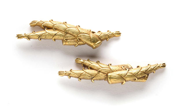 A pair of gold menuki 19th century