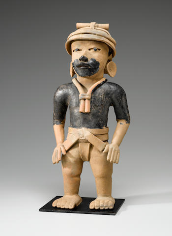 Veracruz Standing Priest, Remojadas,<BR />Late Classic, ca. A.D. 550 - 950