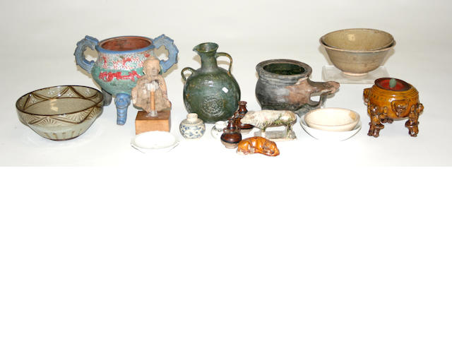 A group of Asian ceramics