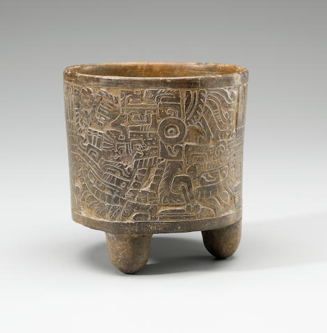 Maya Carved Bowl,<BR />Late Classic, ca. A.D. 550 - 950