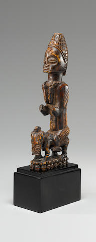 Yoruba Ivory Equestrian Group, Nigeria height 8 1/2in (21.5cm)