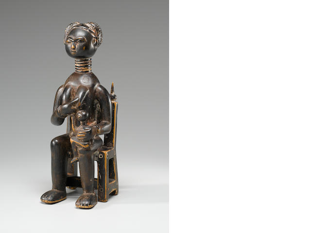 Ashanti Seated Mother and Child, Ghana