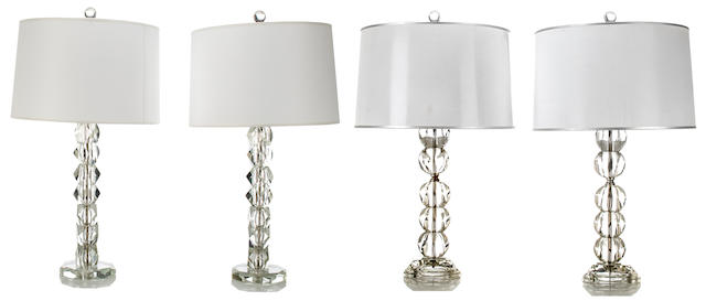 Two Pairs of Table Lamps mid-20th Century