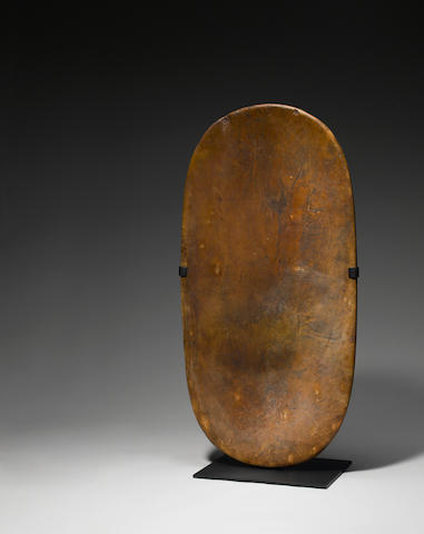 Important and Rare Large Pounding Board, Hawaiian Islands papa ku'i poi<BR />length