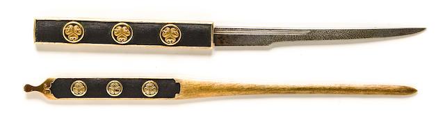 set of futatsu dokoro mono with tokugawa crests