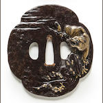 An inlaid iron tsuba Edo period (19th century)