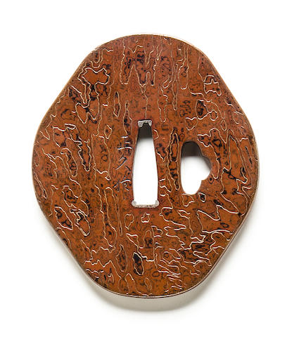 A copper tsuba Edo period (19th century)