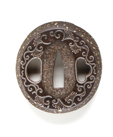 A Nanban-style tsuba Edo period (18th century)