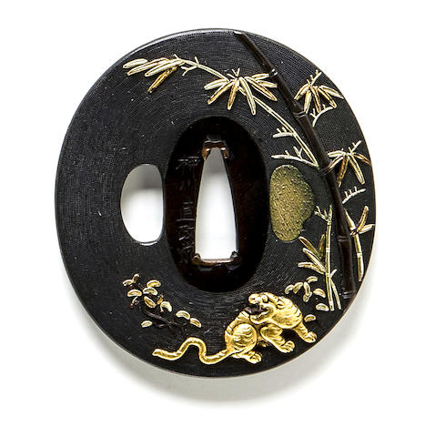 A Yanagawa school tsuba By Naomasa, Edo period (18th century)