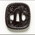 An iron tsuba Edo period (18th-19th century)